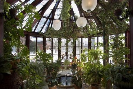 The conservatory in the Mark Twain House & Museum.